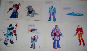 Transformers 1980's Sunbow Model Cels up for Auction on Ebay
