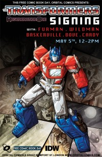 Transformers Regeneration One 80.5 Signing at Orbital Comics London Update: Jason Cardy Added