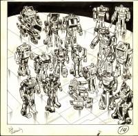 Marvel Transformers #1 Original Art For Sale
