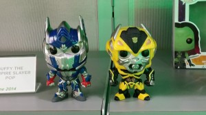 Transformers News: Toy Fair 2014 Coverage - Funko Pop! Age of Extinction Optimus Prime and Bumblebee