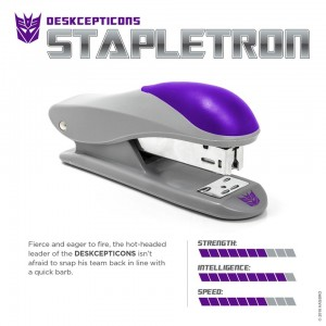 Transformers News: April Fools': Deskcepticon Stapletron Revealed by Hasbro