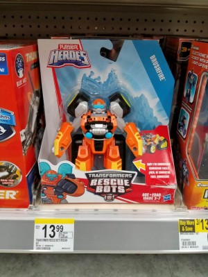 Rescue Bots Brushfire spotted at US retail
