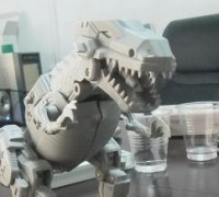 First Prototype from the Upcoming Third-Party Dino-Combiner