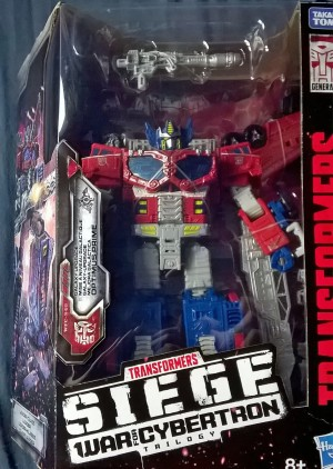 Transformers News: Transformers War for Cybertron Siege Leader Class Galaxy Upgrade Optimus Prime Found in the UK