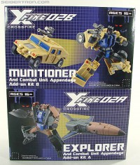 Transformers News: TFSource Video Review on Fansproject Crossfire 02B Munitioner and 02A Explorer