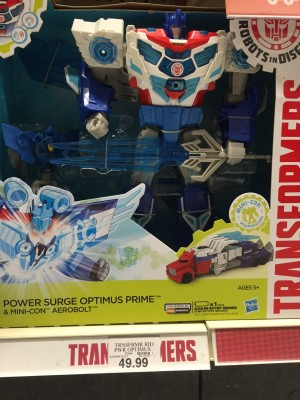 Transformers News: Transformers: Robots in Disguise Power Surge Optimus Prime Sighted at US Retail