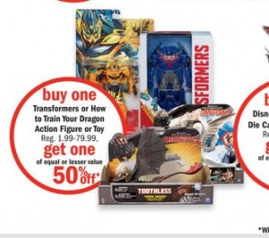Transformers Toy Sales at Kmart and Meijer - Up to 50% Off