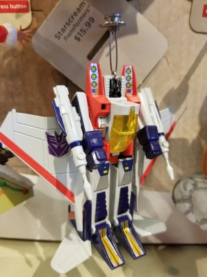 In Hand Images of Transformers Hallmark Generation One Starscream Ornament, New Optimus Prime Stocking Ornament Found