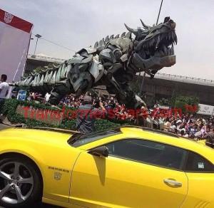 Transformers: Age of Extinction Animatronic Grimlock on Mexico Promotional Tour