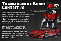 Transformers News: DASH is Giving Away Another Masterpiece Lambor (Sideswipe)… Seriously!