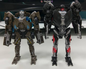 Transformers News: In Hand Images of The Last Knight Deluxe Hot Rod with Comparisons to AOE Lockdown