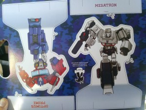 Megacolour Activity Book Featuring Evergreen Transformers Designs with Stickers and Cutouts