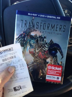 Transformers Age of Extinction Blu-Ray spotted at Target