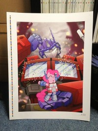 Transformers News: IDW Limited BotCon 2013 Lithograph  - Transformers and My Little Pony