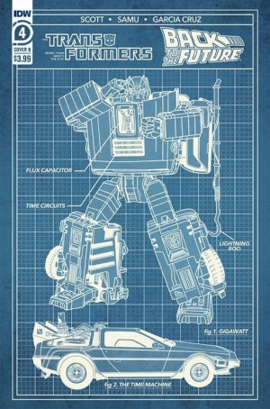 B Cover and RI Cover for IDW'S Back to the Future Transformers  Crossover Issue 4 Revealed