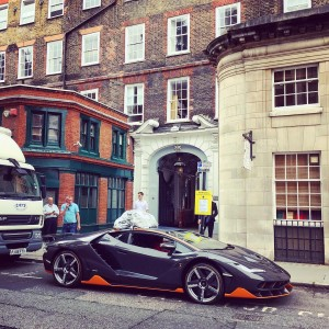 Transformers News: Images from London Set - Transformers: The Last Knight, with Wahlberg, Haddock, Hot Rod, Bumblebee