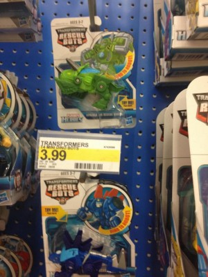 Transformers: Rescue Bots Minibots Boulder and Chase Sighted at US Retail