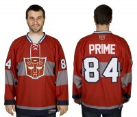 Transformers News: Win an Optimus Prime Hockey Jersey from 80sTees.com and Seibertron.com
