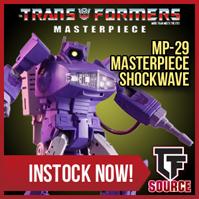 Transformers News: TFsource SourceNews! MP-29 Shockwave, Liger, Arkose, TW Shovel and Concrete & More!