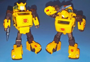 Hasbro Transformers Masterpiece MP-08 Bumblebee In Hand Comparison With MP-21