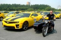 Transformers News: Transformers ROTF Bumblebee parade in China