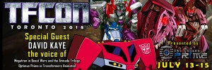 Transformers News: Transformers Voice Actor David Kaye to attend TFcon Toronto 2018