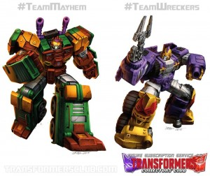 Transformers News: Transformers Subscription Service TFSS 4.0 Bludgeon and Impactor Tech Spec art