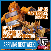 TFsource News! TF-07 Stomp Reissue, MP-34 Cheetor, MP-35 Grapple, Ultimate Voltron EX & More!