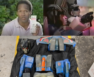 Jazz and Thundercracker Costumes From 80s OJ Simpson Commercial Uncovered by Comic Shop