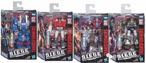 Packaging Images for Transformers War for Cybertron: Siege Deluxe Wave 1