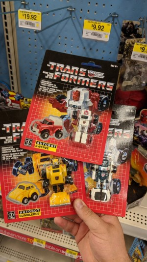 Transformers News: Walmart-Exclusive G1 Minibot Reissues Sighted in Canada With New Rubsign Variety