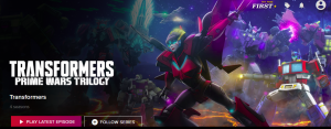 Machinima Transformers Prime Wars Trilogy Now Available on Rooster Teeth