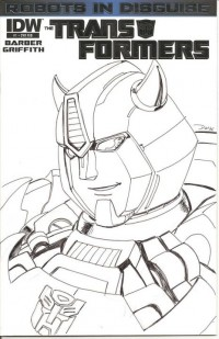 Transformers News: TRANSFORMERS: ROBOTS IN DISGUISE #1 Retailer Incentive Sketch Cover by Dan Khanna