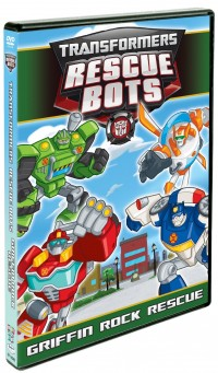 Transformers News: Transformers Rescue Bots: Griffin Rock Rescue DVD Cover Art