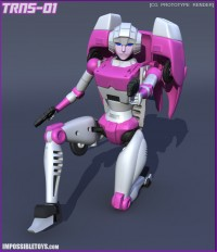 Transformers News: Impossible Toys Arcee CGI Images