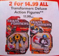 Transformers News: Toys'R'Us Sale - Any Two Deluxes For $14.99