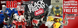 Transformers News: TFsource 12-1 Weekly SourceNews! Black Friday Sale Final Day!