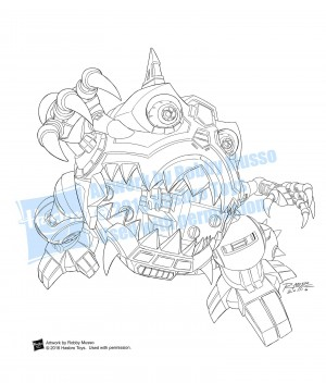 Transformers News: Artist Robby Musso Reveals His Original Line Art For Transformers Titans Returns Box Images