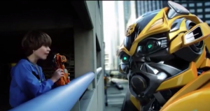 Transformers News: Transformers: Age of Extinction Mega One-Step Bumblebee Commercial