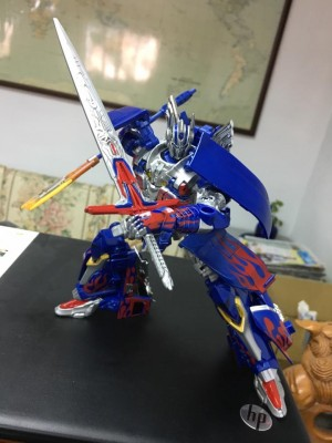 Transformers News: In-Hand Images of Takara Tomy Transformers: The Last Knight TLK-15 Calibur Optimus Prime