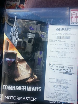 Transformers News: Transformers Generations Combiner Wars Motormaster at US Retail