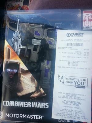 Transformers Generations Combiner Wars Motormaster at US Retail