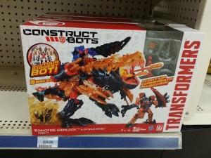 Transformers News: Construct-Bots Dinofire Grimlock showing up at Kmart