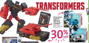 Australian Toys'R'Us Transformers Sales Starting Wednesday 29