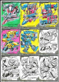 Transformers News: Additional Sketch Card Previews from Breygent Marketing's Transformers Collector Card Set