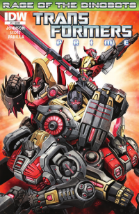 Transformers News: Transformers Prime: Rage of the Dinobots #1 Preview