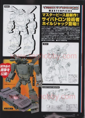 Transformers News: Takara Tomy Transformers MP-20 Wheeljack Line Art - Dengeki Magazine Scans
