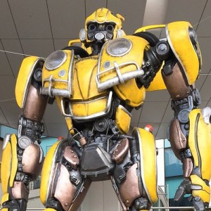 Life-size movie Bumblebee statue stands tall in Odaiba