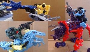 Transformers News: Video Reviews - Transformers: Age of Extinction ConstructBots and Dino Riders: Strafe, Slug, Slash