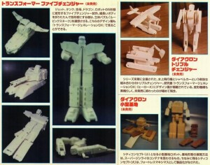 Rare hand made Transformers prototypes shown in Figure King magazine
